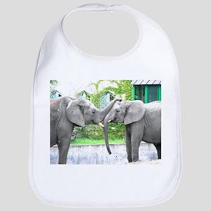 Love Kiss and hug elephants lovers Bib