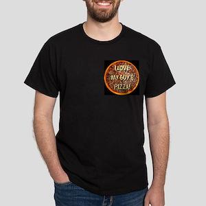 I Love My Guy & Pizza Dark T-Shirt