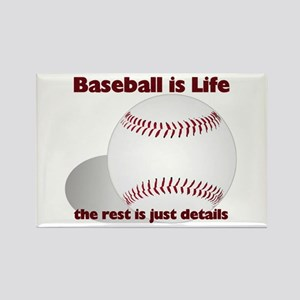 Baseball is Life Rectangle Magnet