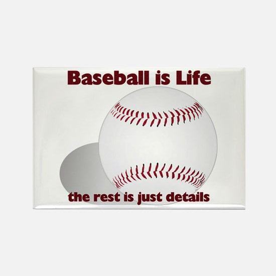 Baseball is Life Rectangle Magnet