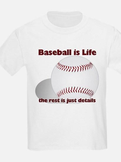 Baseball is Life Kids T-Shirt