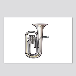 euphonium brass instrument music realistic Postcar