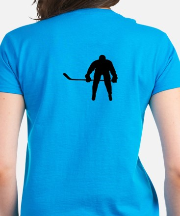 HOCKEY PLAYER Women's Dark T-Shirt