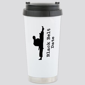 Black Belt 16 oz Stainless Steel Travel Mug
