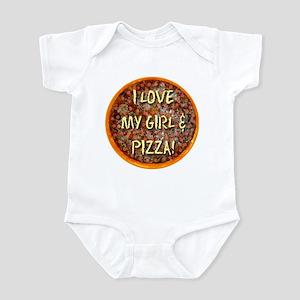 I Love My Girl & Pizza Infant Bodysuit