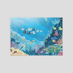 Tropical Reef 5'x7'Area Rug