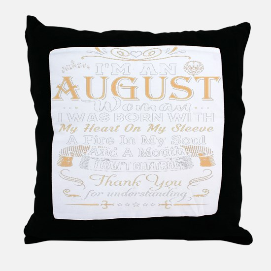 Funny August Throw Pillow