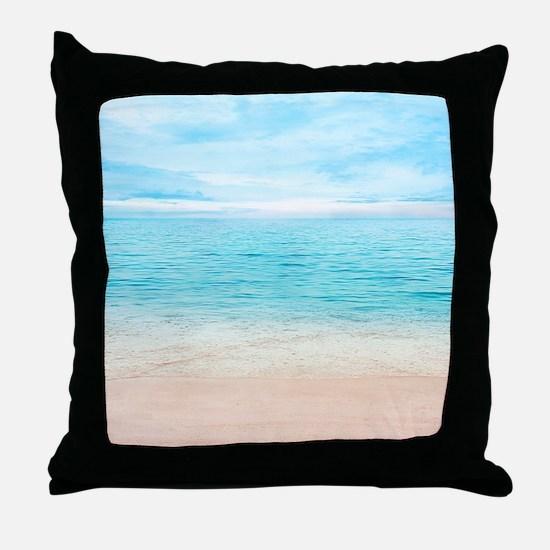 Beautiful Beach Throw Pillow