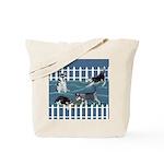 Siberian Husky Puppy Pen Tote Bag