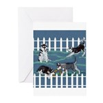 Siberian Husky Puppy Pen Greeting Cards (Package o
