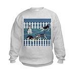 Siberian Husky Puppy Pen Kids Sweatshirt