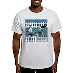 Siberian Husky Puppy Pen Ash Grey T-Shirt
