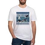 Siberian Husky Puppy Pen Fitted T-Shirt