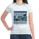 Siberian Husky Puppy Pen Jr. Ringer T-Shirt