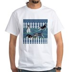 Siberian Husky Puppy Pen White T-Shirt