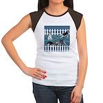 Siberian Husky Puppy Pen Women's Cap Sleeve T-Shir