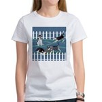 Siberian Husky Puppy Pen Women's T-Shirt