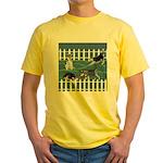 Siberian Husky Puppy Pen Yellow T-Shirt