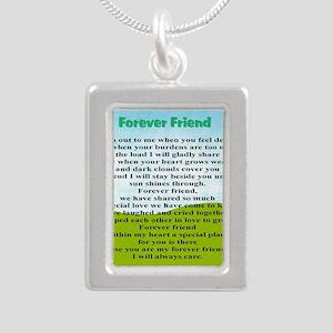 Friendship Silver Portrait Necklace