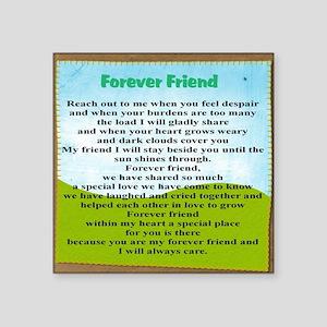 "Friendship Square Sticker 3"" x 3"""