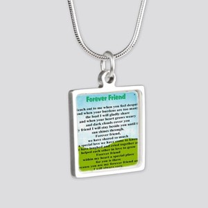 Friendship Silver Square Necklace