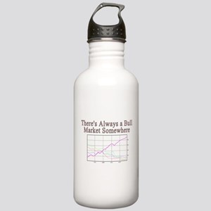 Theres always a bull market somewhere Water Bottle
