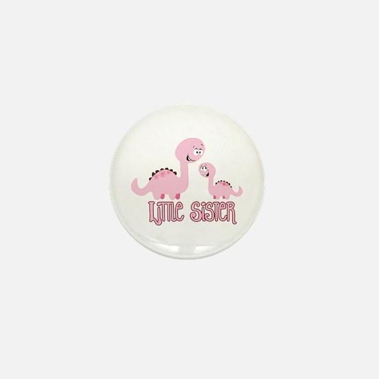Little Sister Dinosaur Mini Button