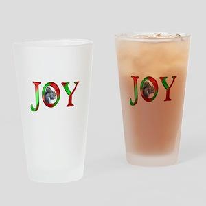 Christmas Joy Squirrel Drinking Glass