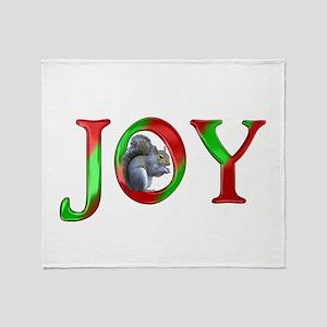 Christmas Joy Squirrel Throw Blanket