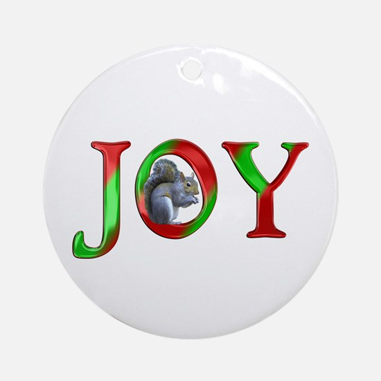 Christmas Joy Squirrel Ornament (Round)