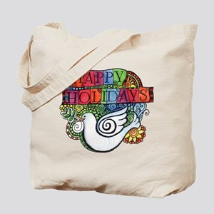 Christmas Dove for Peace Tote Bag