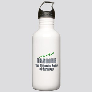 Trading the ultimate game of strategy Water Bottle