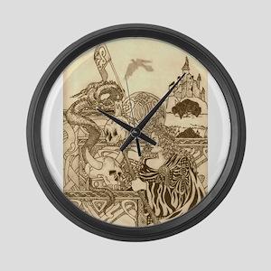 Woodland Woman Large Wall Clock