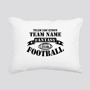 Personalized Fantasy Blk Rectangular Canvas Pillow