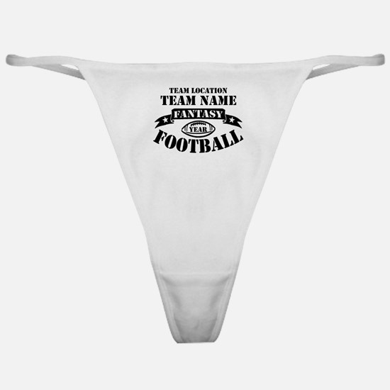 Personalized Fantasy Blk Classic Thong