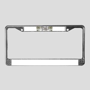 Husky Pride License Plate Frame
