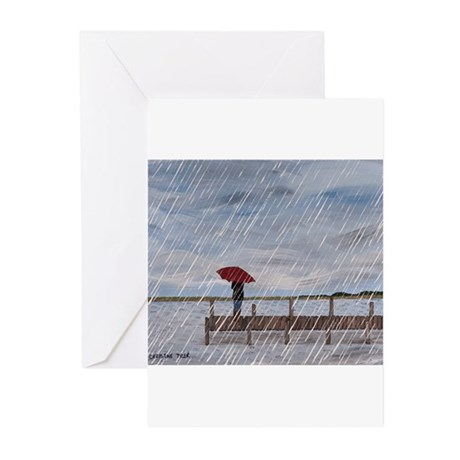 Waiting in the Rain Greeting Cards