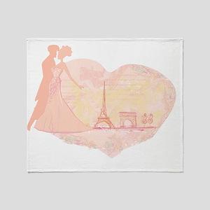 Paris Romance Throw Blanket