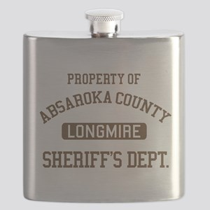 Property Of Absaroka County Flask