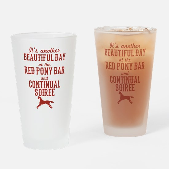 Longmire Red Pony Continual Soiree Drinking Glass
