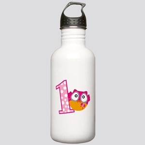 Cute Pink Owl Stainless Water Bottle 1.0L