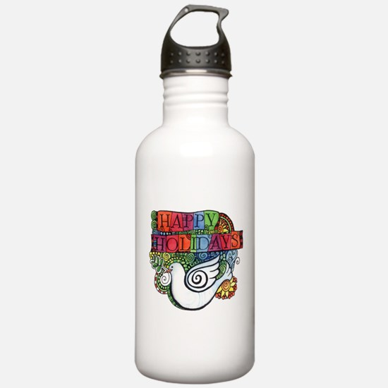 Christmas Dove for Pea Water Bottle