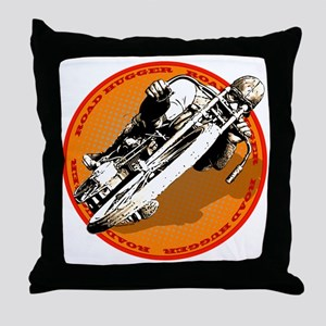 Road Hugger Motorcycle Throw Pillow