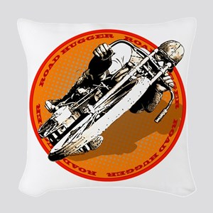 Road Hugger Motorcycle Woven Throw Pillow