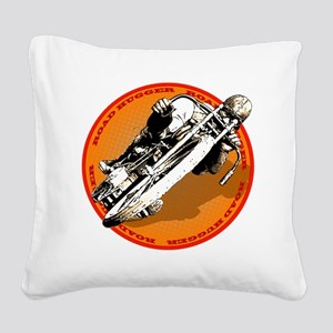 Road Hugger Motorcycle Square Canvas Pillow