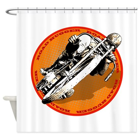 Road Hugger Motorcycle Shower Curtain