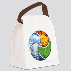 Four Elements Ying Yang Canvas Lunch Bag