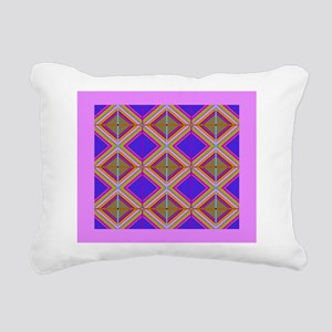 Chevron Diamond Quilt Rectangular Canvas Pillow