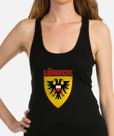 Lubeck (red).png Racerback Tank Top