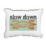 Slow Down Stamped Lizard Rectangular Canvas Pillow
